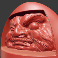 Small Daruma Doll Wall Piece 3D Printing 80598