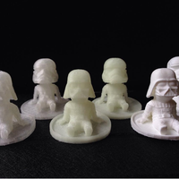 Small starwars darth vader chibi 3D Printing 80648