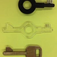 Small Bonowi high-security handcuff key 3D Printing 80674
