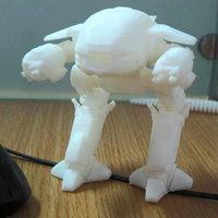 Small ED-209 ENFORCEMENT DROID from Robocop 3D Printing 80706