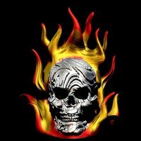 Small Skull on Fire 3D Printing 80844