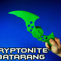 Small  Kryptonite Batarang Switchblade 3D Printing 80899