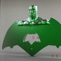 Small krypto batman light switches 3D Printing 80924