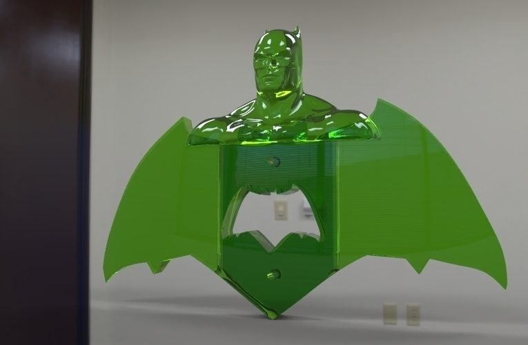krypto batman light switches 3D Print 80927