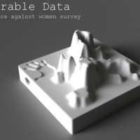 Small Wearable Data – violence against woman survey 3D Printing 80941
