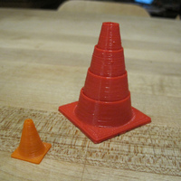 Small Collapsible Traffic Cone 3D Printing 81058