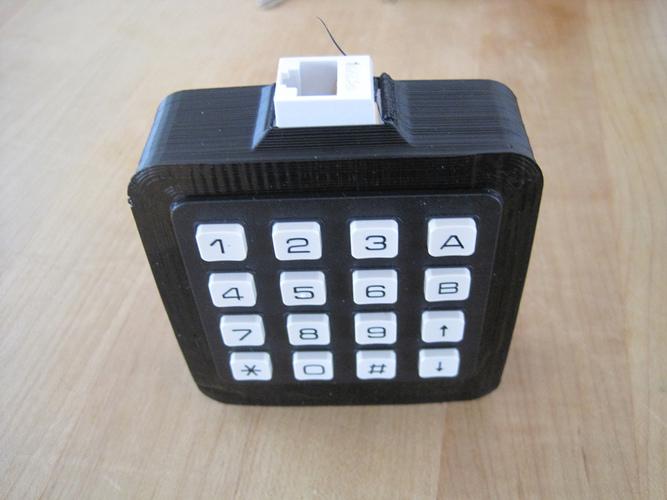 3D Printed Housing for modtronix 4x4 keypad by jeremygreen | Pinshape
