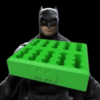 Small batman kryptonite ice cube tray 3D Printing 81244