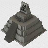 Small Tikal Temple II Mayan temple model 3D Printing 81334