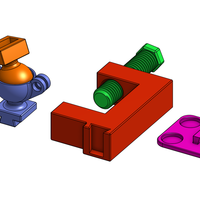 Small Universal Dovetail Mounts and Clamps 3D Printing 81549