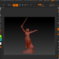"Small The sculpture ""the Motherland calls!"" 3D Printing 81561"