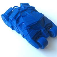 Small Batmobile Tumbler 3D Printing 81601