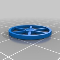 Small Wooden Wheel 3D Printing 81613