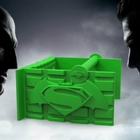 Small kryptonite toilet paper holder 3D Printing 81632