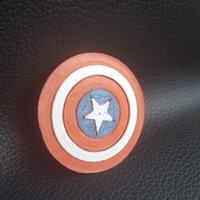 Small Captain America Shield 3D Printing 81657