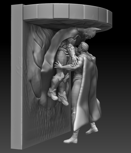 Batman Vs Superman Speaker Wall Stand 3D Print 81707