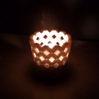 Small Decorative Tea Light Holder 3D Printing 81722