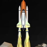 Small Shuttle Launch Figurine (Medium) 3D Printing 8181