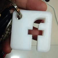 Small FB A key Ring 3D Printing 81866