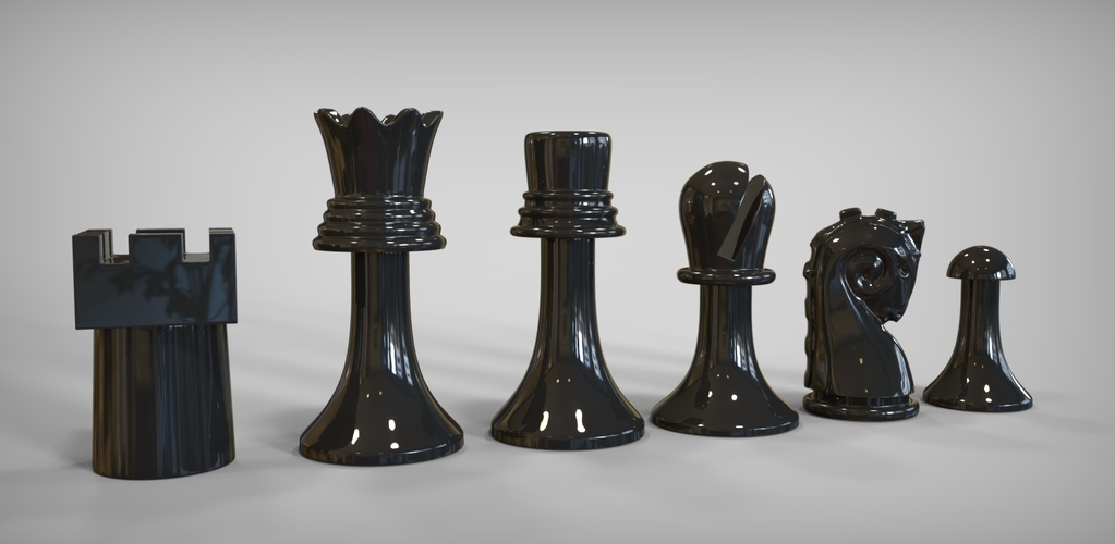 Duchamp Chess Set 3D Print 81880