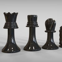 Small Duchamp Chess Set 3D Printing 81880