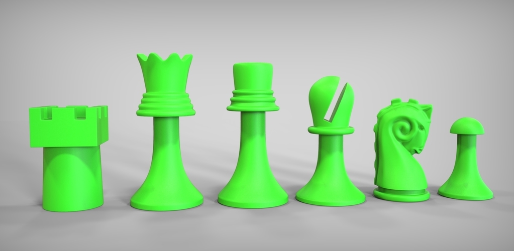 Duchamp Chess Set 3D Print 81881