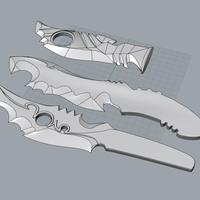 Small WIP, Cosplay Blades 3D Printing 81917