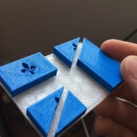 Small French Quebec Flag | Francais Quebec drapeau | Troadey Inc. 3D Printing 81942