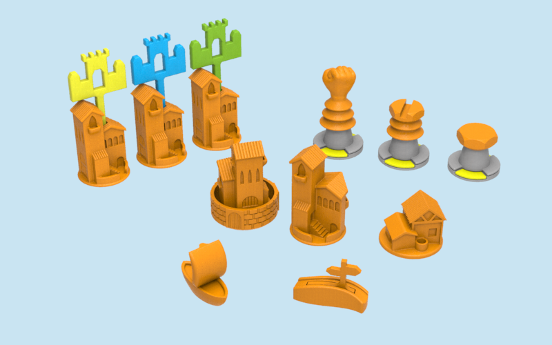 Catan pieces (Cities & Knights + Seafarers) 3D Print 82071