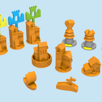 Small Catan pieces (Cities & Knights + Seafarers) 3D Printing 82071