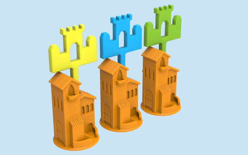 Catan pieces (Cities & Knights + Seafarers) 3D Print 82076