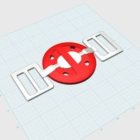 Small Deadpool Belt Buckle 3D Printing 82117
