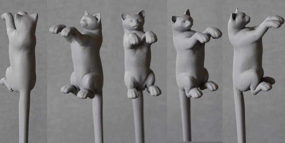 Dancing Cat Back Scratcher, Puppet and Toy 3D Print 82177