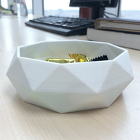 Small Low Poly Bowl 3D Printing 82399