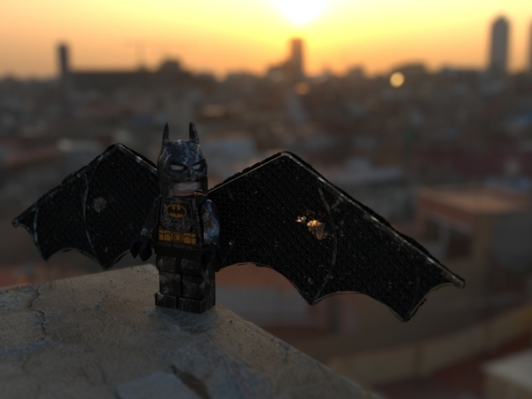 Medium Flying Lego Batman 3D Printing 82406