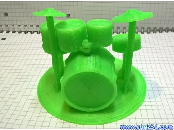 Medium drum set model 3D Printing 82420