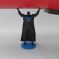 Small superman  holding rocket 3D Printing 82459