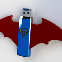 Small Batman Vs Superman USB Mod 3D Printing 82466