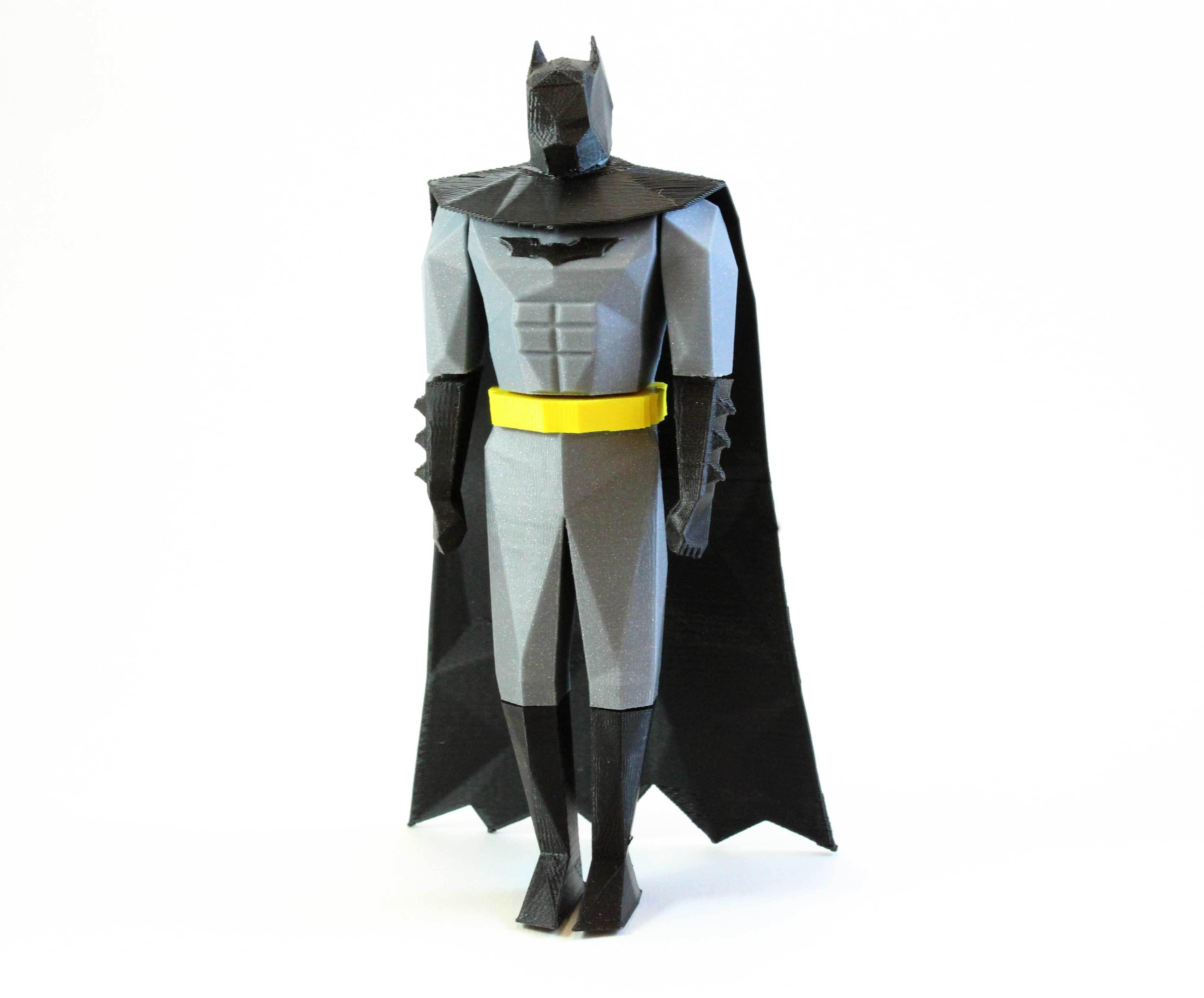 3D Printed Batman Low Poly by christos_fragoulias | Pinshape