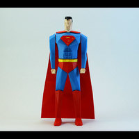 Small Superman Low Poly 3D Printing 82501