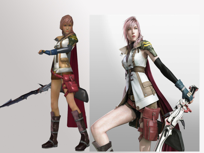 Printed Lightning Final Fantasy Xiii By Solid Pinshape