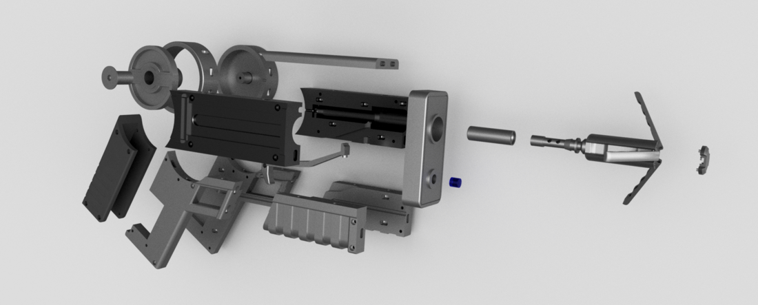 Batman Grapple Gun (functional toy gun) 3D Print 82603