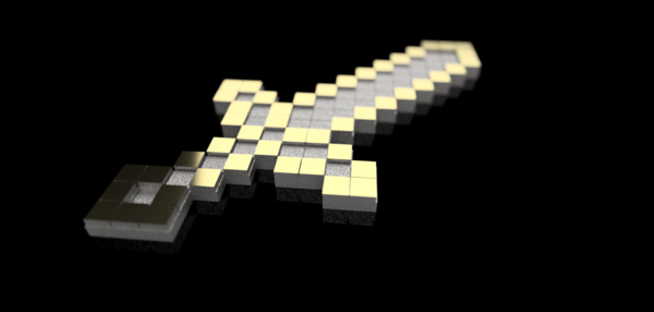 Medium Minecraft Sword 3D Printing 82671