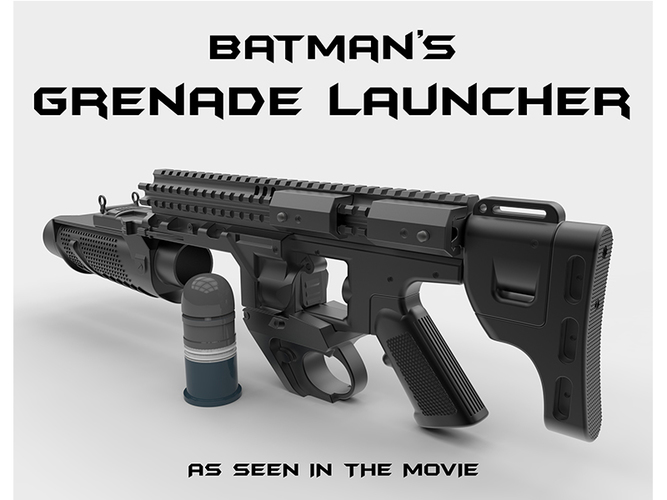 Batman's Grenade Launcher 1:1 scale (Batman vs Superman) 3D Print 82715