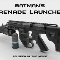 Small Batman's Grenade Launcher 1:1 scale (Batman vs Superman) 3D Printing 82715
