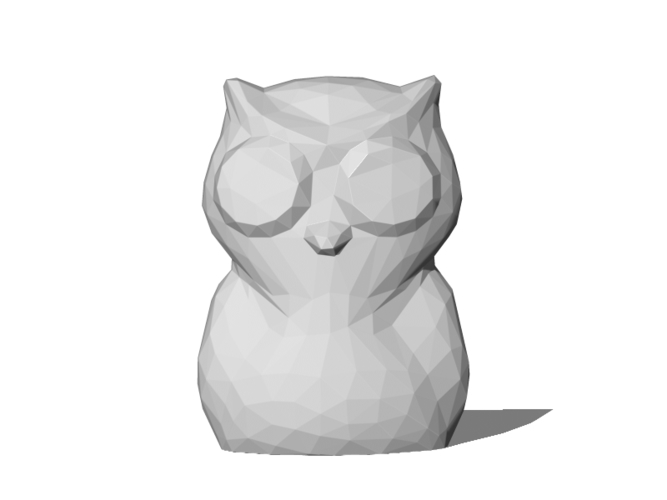 Low Poly Owl 3D Print 82861
