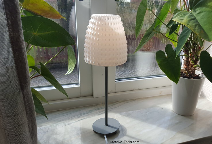 Unique 3D Printed 3D-printable lampshade for standard light fixture by  EL82