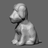 Small Low Poly Dog 3D Printing 82979
