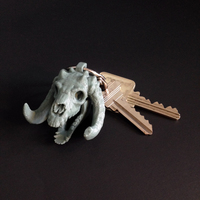 Small 'Sleeping Bag' Mini Skull Charm 3D Printing 82988