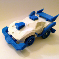 Small 3DRacers - RC Car, Arduino-compatible and smartphone enabled! 3D Printing 83008